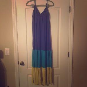 Tri-Colored Maxi Dress